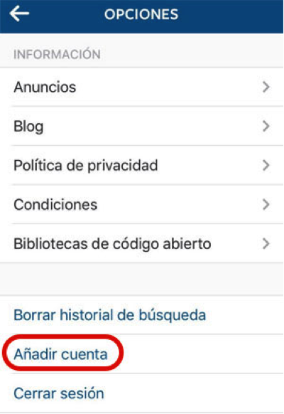 Instagram ya permite usar múltiples cuentas al mismo tiempo